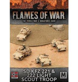 Battlefront Miniatures Sd Kfz 221 & 222 Light Scout Troop