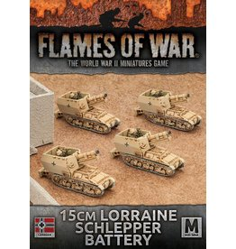 Battlefront Miniatures 15cm (Sf) Lorraine Schlepper Artillery Battery