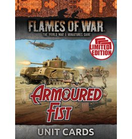 Battlefront Miniatures Armoured Fist Unit Cards
