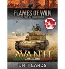 Battlefront Miniatures Avanti Unit Cards