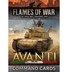 Battlefront Miniatures Avanti Command Cards