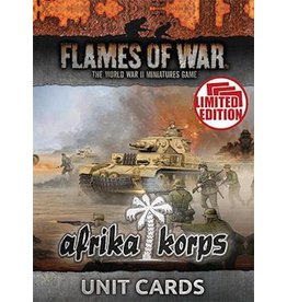 Battlefront Miniatures Afrika Korps Unit Cards