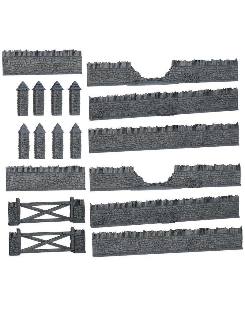 Mantic Games Terrain Crate: Battlefield Walls