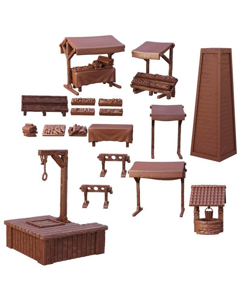 Mantic Games Terrain Crate: Village Square(Retail Exclusive)