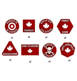 Battlefront Miniatures Canadian Token Set