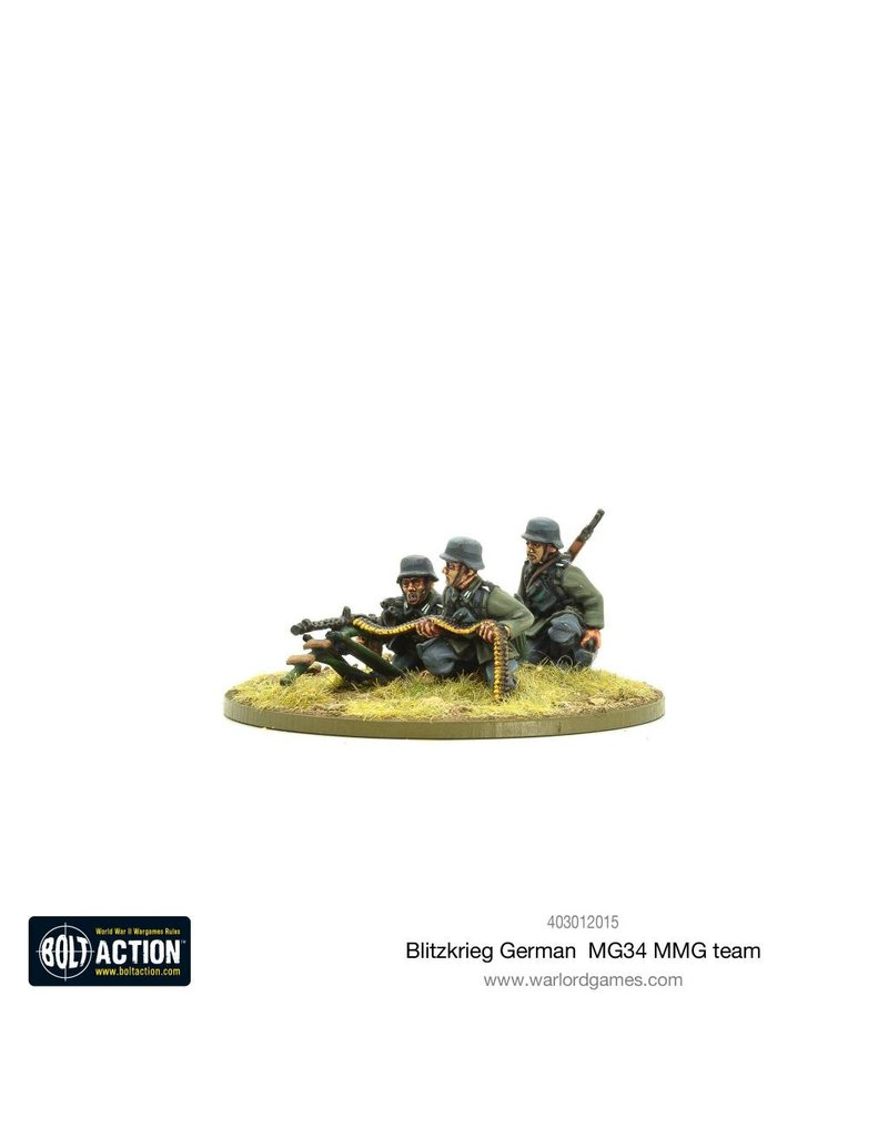 Warlord Games Blitzkrieg German MG34 MMG Team (1939-42) (Revised)