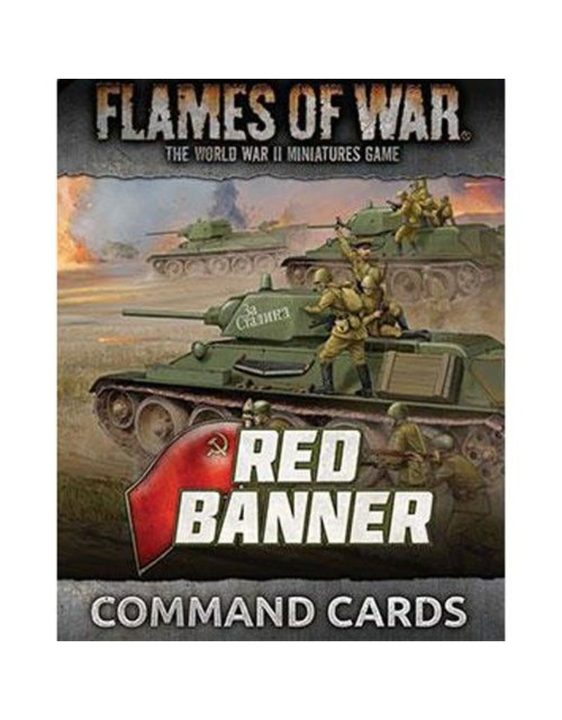 Battlefront Miniatures Soviet Red Banner Command Cards