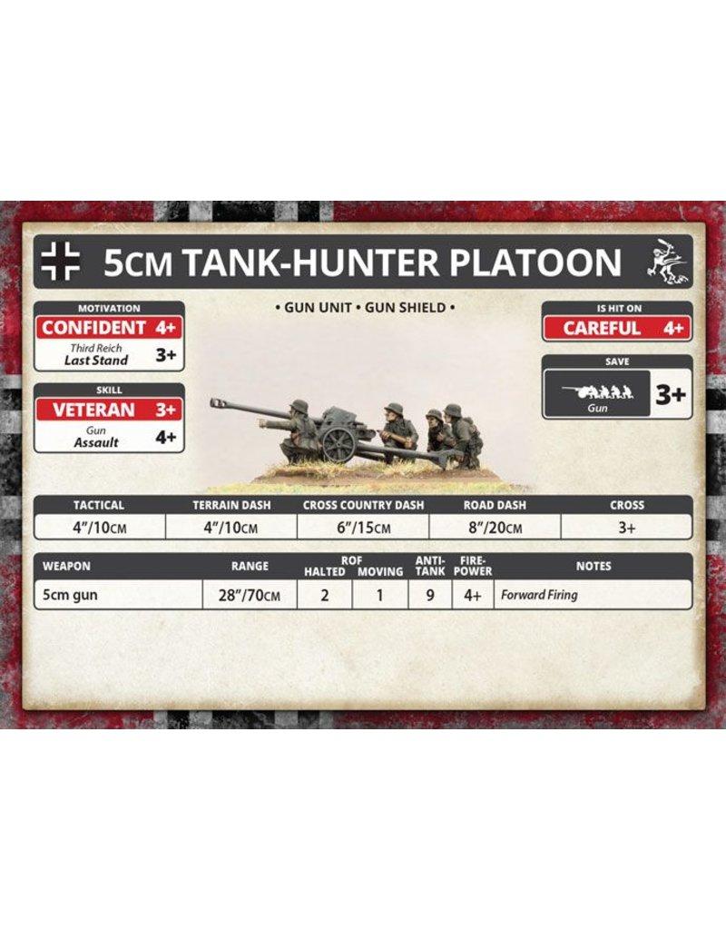 Battlefront Miniatures German Eastern Front: 5cm Tank Hunter Platoon