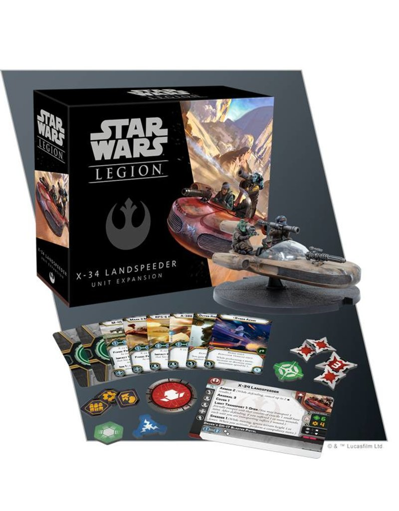 Fantasy Flight Games Star Wars Legion: X-34 Landspeeder Unit Expansion