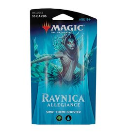 Wizards of the Coast MTG: Ravnica Allegiance Theme Booster – Simic Combine