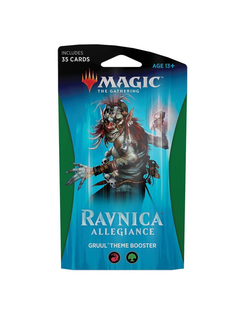 Wizards of the Coast Magic The Gathering: Ravnica Allegiance Theme Booster - Gruul Clans