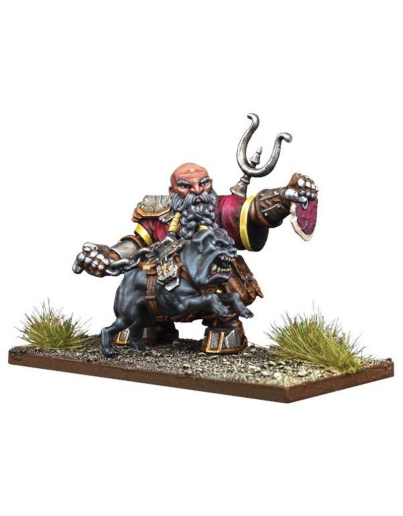 Mantic Games Kings Of War Vanguard Dwarf Support Pack: Mastiff Packmaster