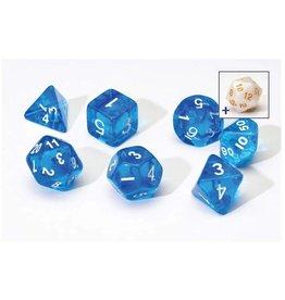 Sirius Dice Translucent Blue Poly Set