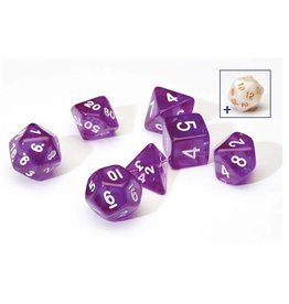 Sirius Dice Translucent Purple Poly Set