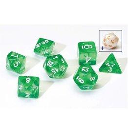 Sirius Dice Translucent Green Poly Set