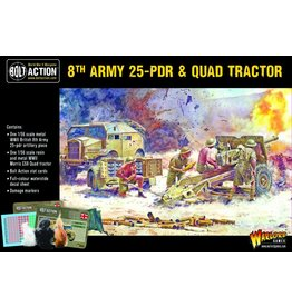 Warlord Games 8th Army 25 Pounder Light Artillery, Quad & Limber
