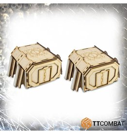 TT COMBAT Fortified Bunker Straight Sections (2)