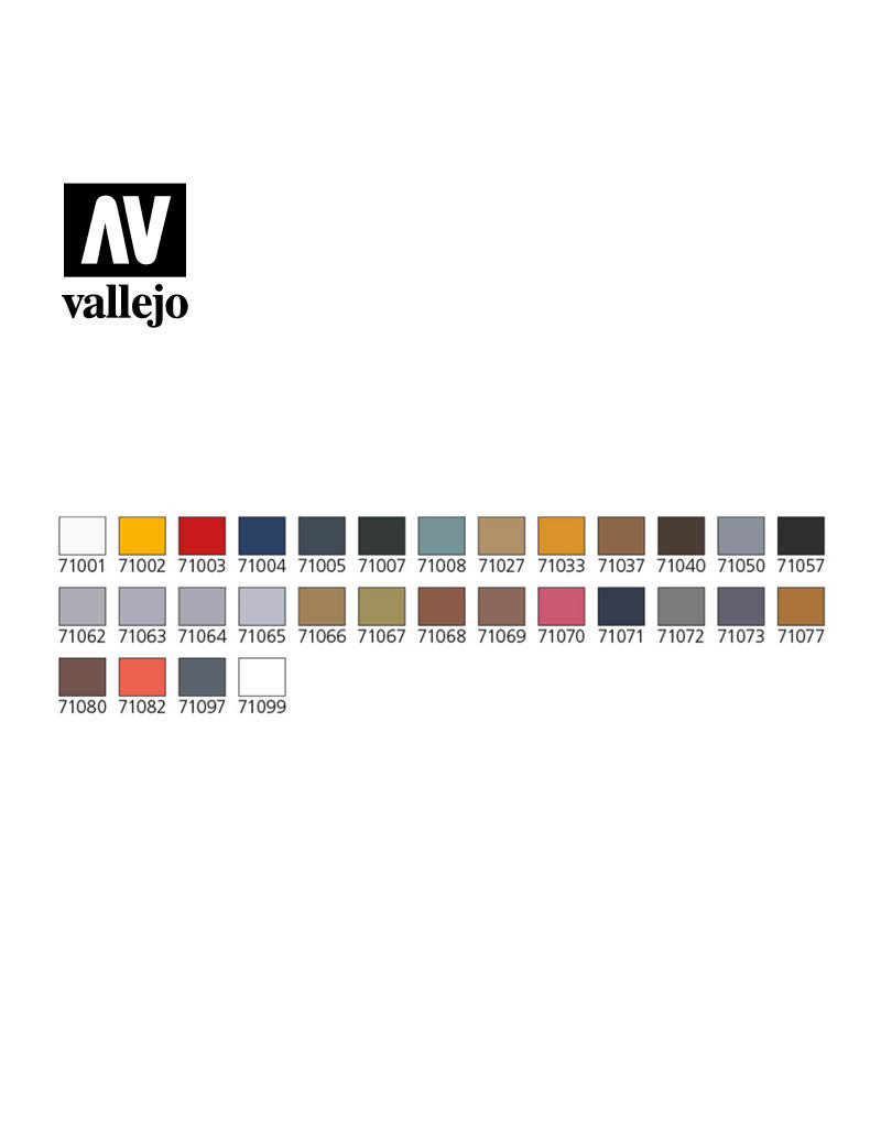 Vallejo Model Air - Basic Colors & Airbrush Set
