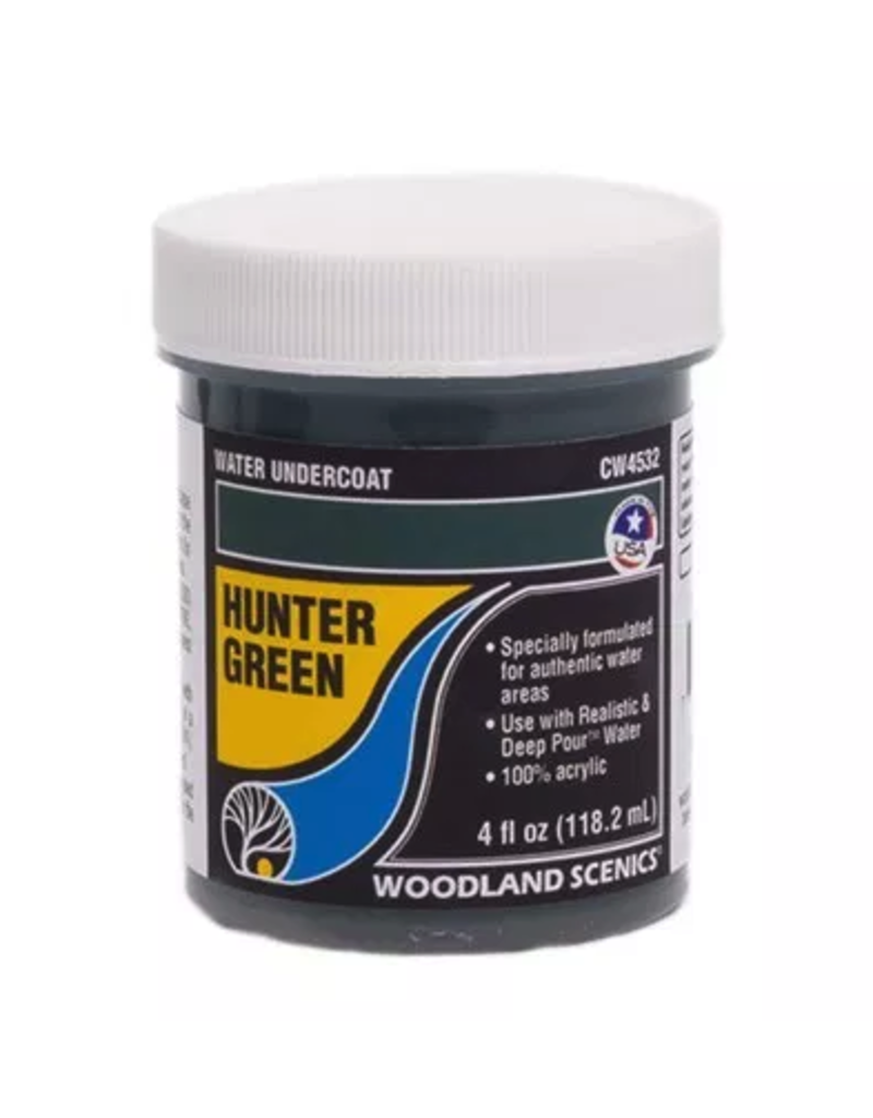 Woodland Scenics Complete Water System - Hunter Green Water Undercoat