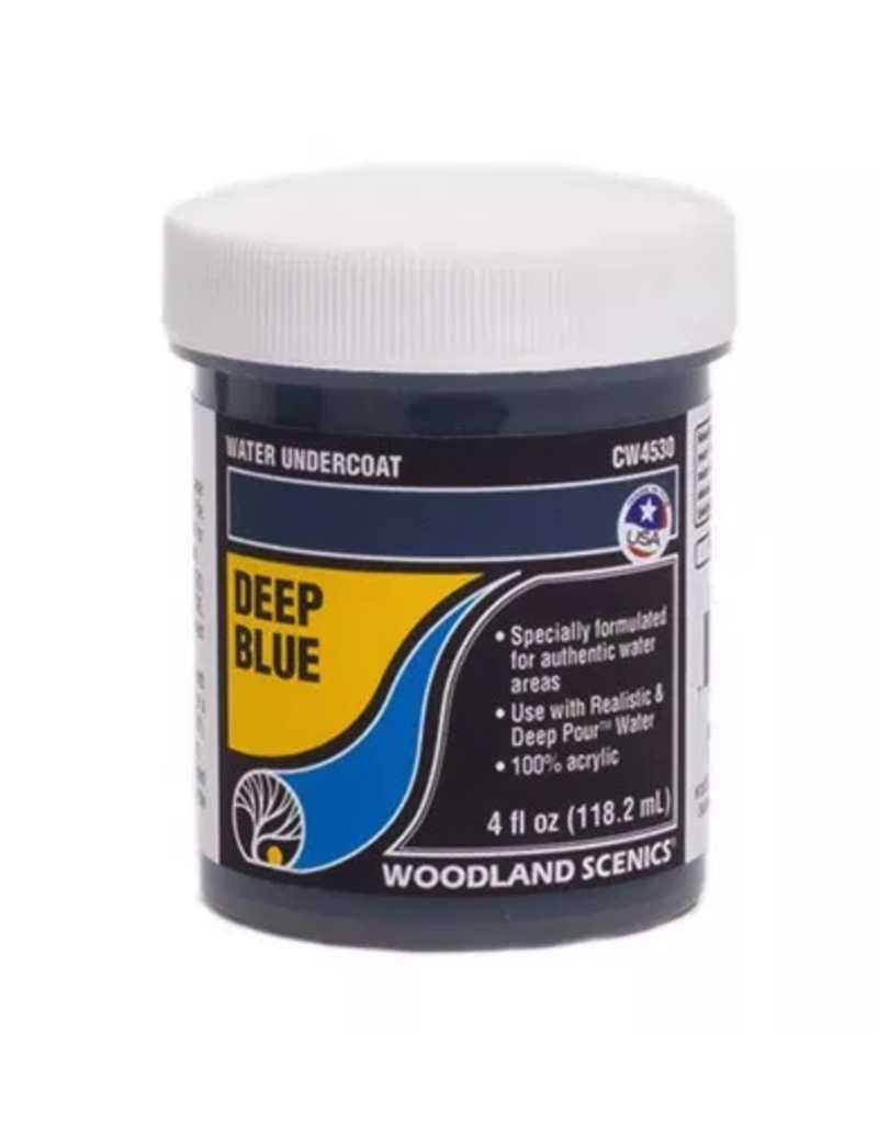 Woodland Scenics Complete Water System - Deep Blue Water Undercoat
