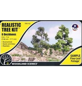 "Woodland Scenics 3""-7"" Medium Green Deciduous Trees"