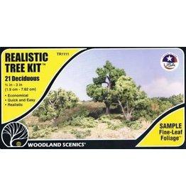 "Woodland Scenics 0.75""-3"" Medium Green Deciduous Trees"