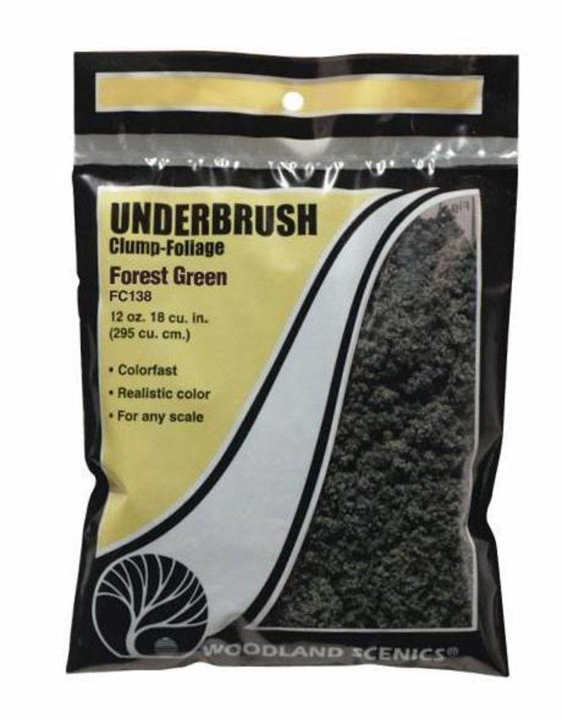 Woodland Scenics Tree Foliage: Forest Green Underbrush (BAG)
