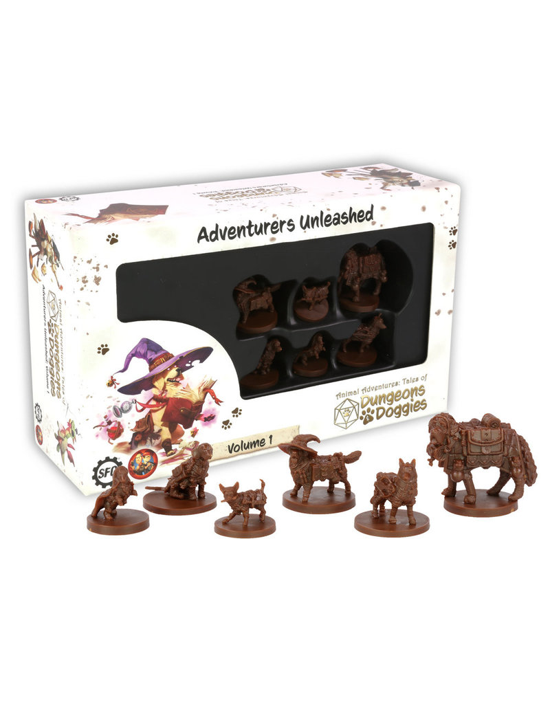 Steamforged D&D: Dungeons and Doggies Miniatures Box #1