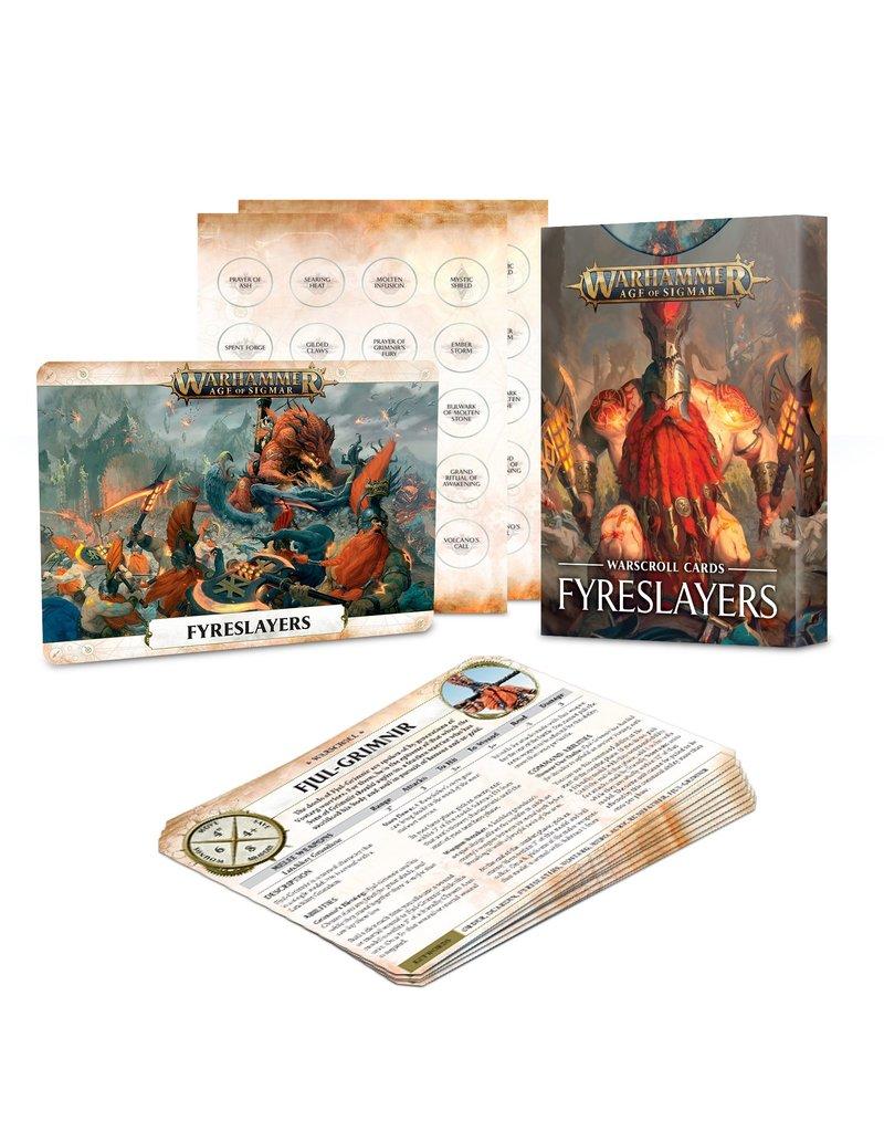 Games Workshop Warscroll Cards: Fyreslayers (ENGLISH)