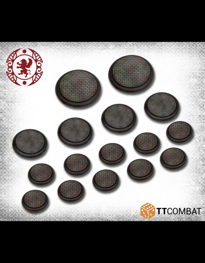 TT COMBAT Carnevale: 30, 40, 50mm Cobblestone Bases