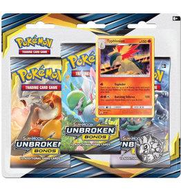 Pokemon Unbroken Bonds Blister 3-Pack Display
