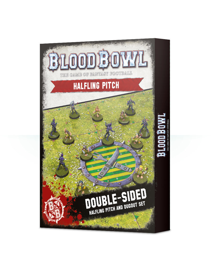 Games Workshop Blood Bowl: Halfling Team Pitch & Dugouts