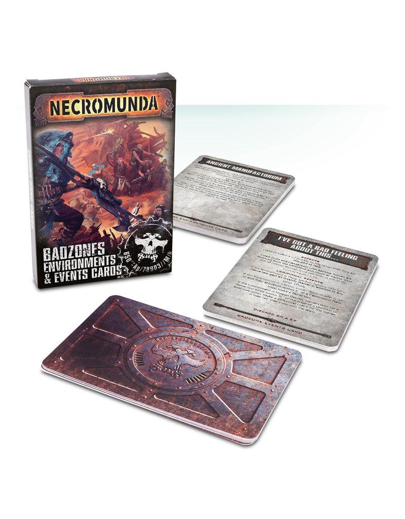 Games Workshop Necromunda Badzones Environments Event Cards (EN)