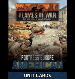 Battlefront Miniatures Late War American Unit Cards