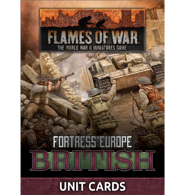 Battlefront Miniatures Late War British Unit Cards
