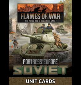 Battlefront Miniatures Late War Soviet Unit Cards