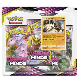 Pokemon Unified Minds Triple Booster Pack - Stakataka