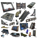 Battle Systems Outlands Core Scenery Set