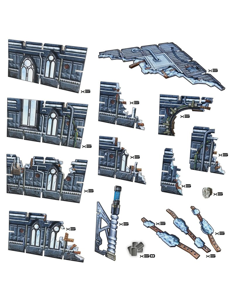 Battle Systems Gothic Ruins Scenery Set