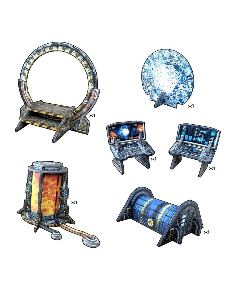 Battle Systems Sci-fi Dimension Gate Scenery Set