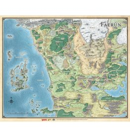 """Gale Force 9 Realm and Sword Coast Map (27"""" x 32"""")"""