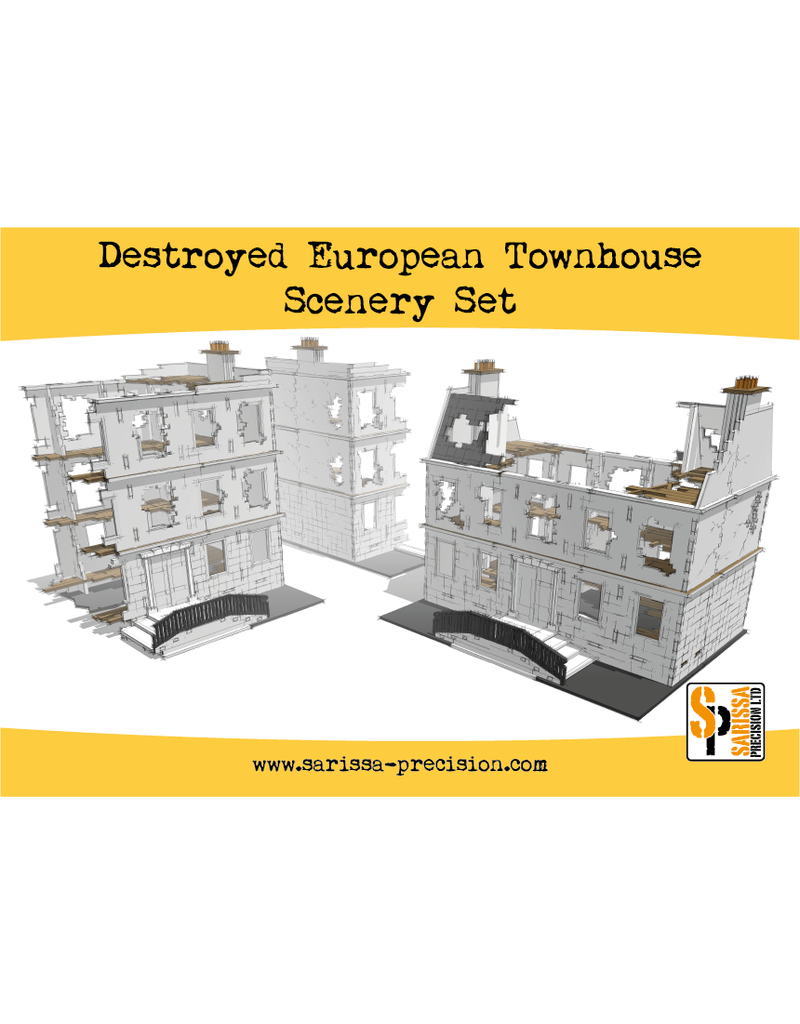 Warlord Games Historical Destroyed European Townhouse Scenery Set