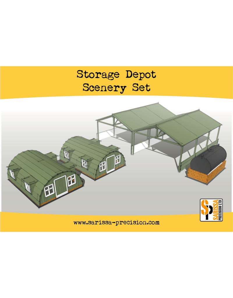 Warlord Games Bolt Action Storage Shelter Scenery Set