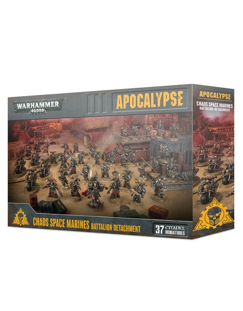 Games Workshop 40k Apocalypse: Chaos Space Marines Battalion Detachment