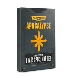 Games Workshop Apocalypse Data Sheets: Chaos Space Marines (EN)