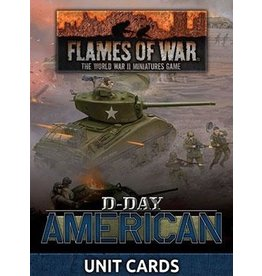 """Battlefront Miniatures """"D-Day American"""" Late War Unit Cards"""
