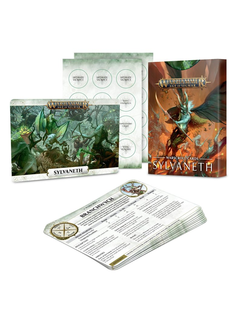 Games Workshop Warscroll Cards: Sylvaneth (EN)