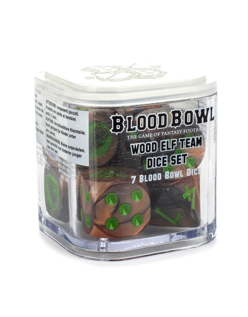 Games Workshop Blood Bowl: Wood Elf Team Dice Set
