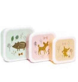 Petit Monkey forest friends lunchbox set