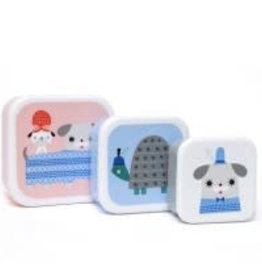 Petit Monkey Peanut & friends lunchbox set